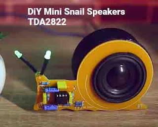 TDA2822 Power Amplifier Circuit