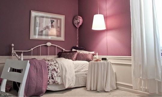 Dormitorio para niña violeta