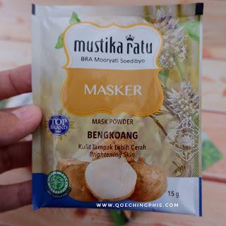 Review Produk : Masker bubuk Mustika Ratu