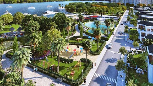 Không gian xanh của khu đô thị Louis City