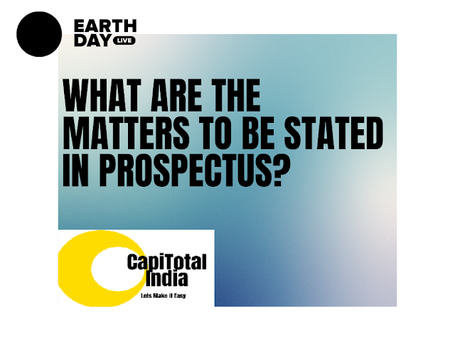 What are the matters to be stated in prospectus?
