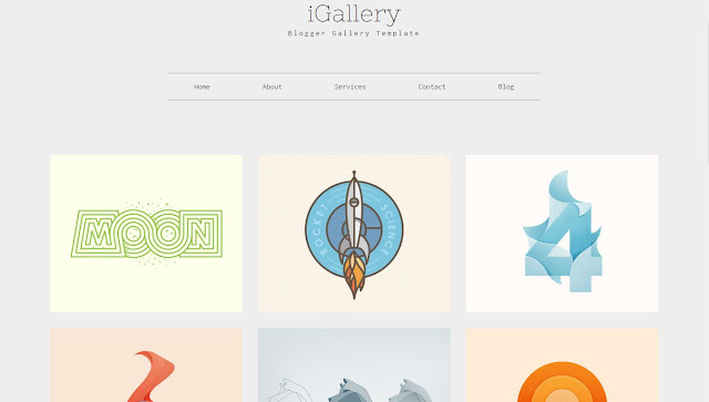 iGallery Blogger Template