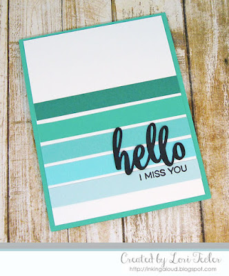 Hello I Miss You card-designed by Lori Tecler/Inking Aloud-stamps and dies from My Favorite Things