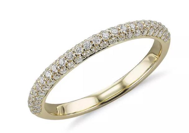 Blue Nile Trio micropavé diamond wedding ring