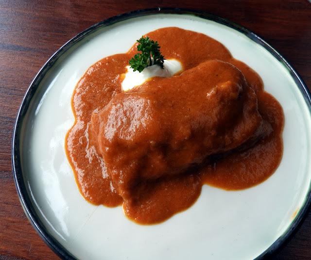 Hungarian Starter, paprika sauce