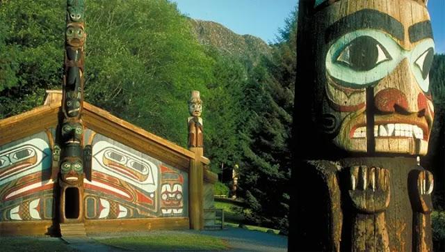 Totem Bight State Park in Ketchikan, Alaska
