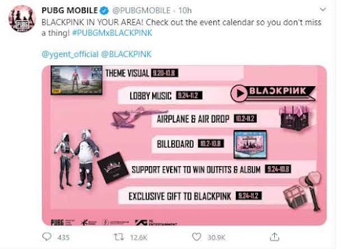 PUBG Mobile BLACKPINK IN YOUR AREA 2020