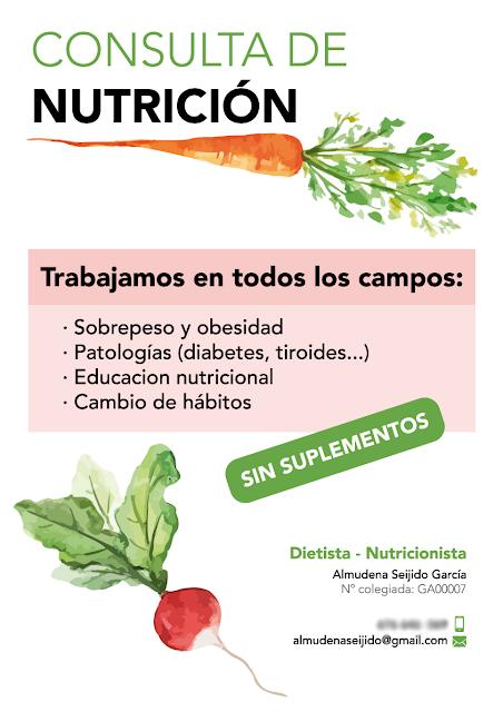 Cartel consulta nutrición