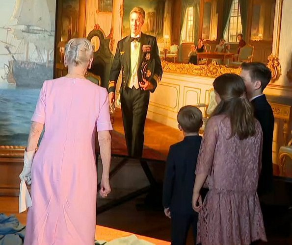 Crown Princess Mary wore No. 21 Pleated Midi Dress. Queen Margrethe, Crown Prince Frederik, Princess Isabella, Prince Christian, Vincent