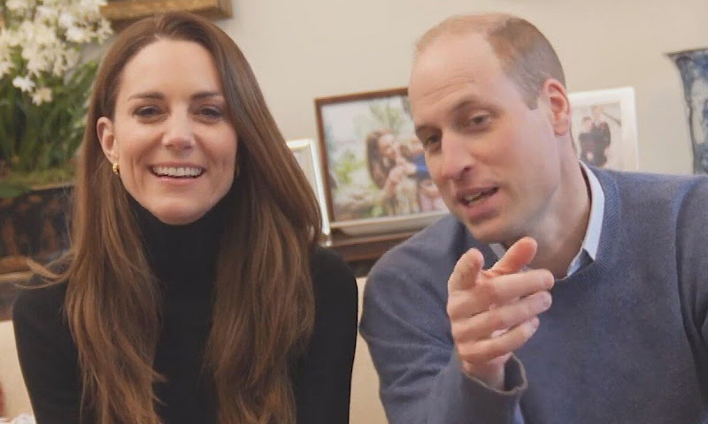 Prince William and Kate Middleton shared a fun first video on their social media channels. Black trousers