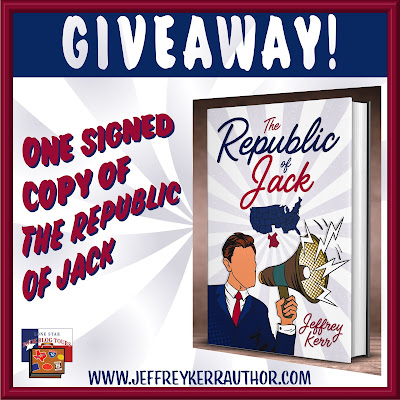 The Republic of Jack tour giveaway graphic. Prizes to be awarded precede this image in the post text.
