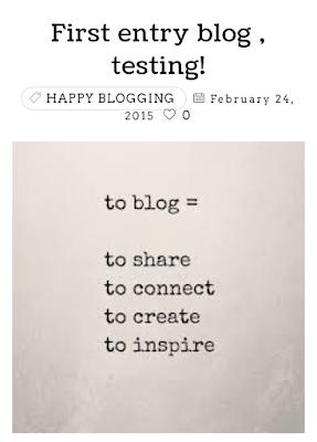 Reason to blog