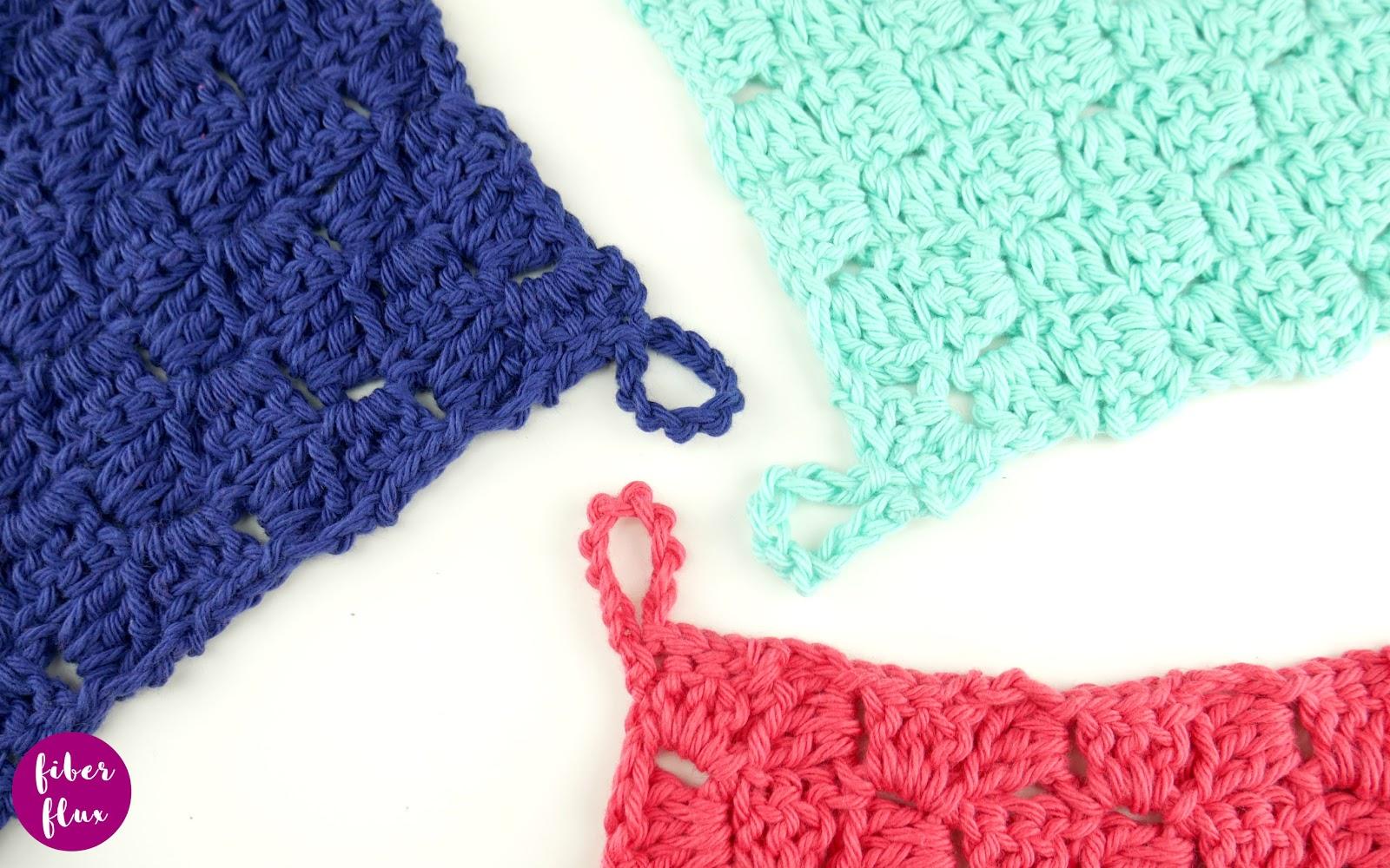 Colorblock C2C Dishcloth, Free Crochet Pattern + Video