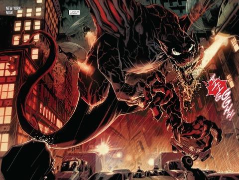 El simbionte de Marvel, Grendel, en forma de dragón