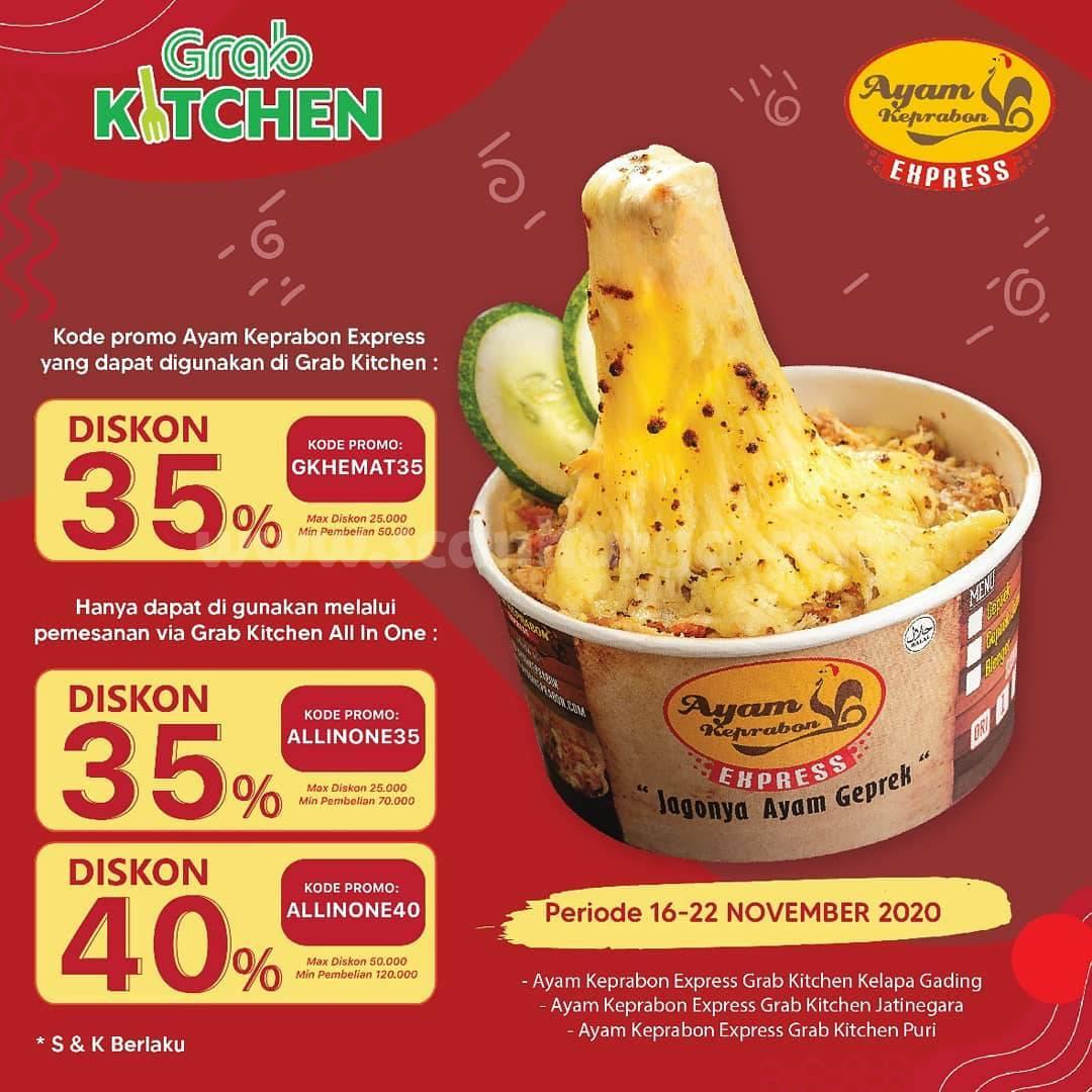 Ayam Keprabon Promo GrabKitchen Diskon 30% - 40%