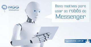 Os motivos para você usar os robôs do Messenger são bons, mas o atendimento quando você não está online é o preferido das empresas.
