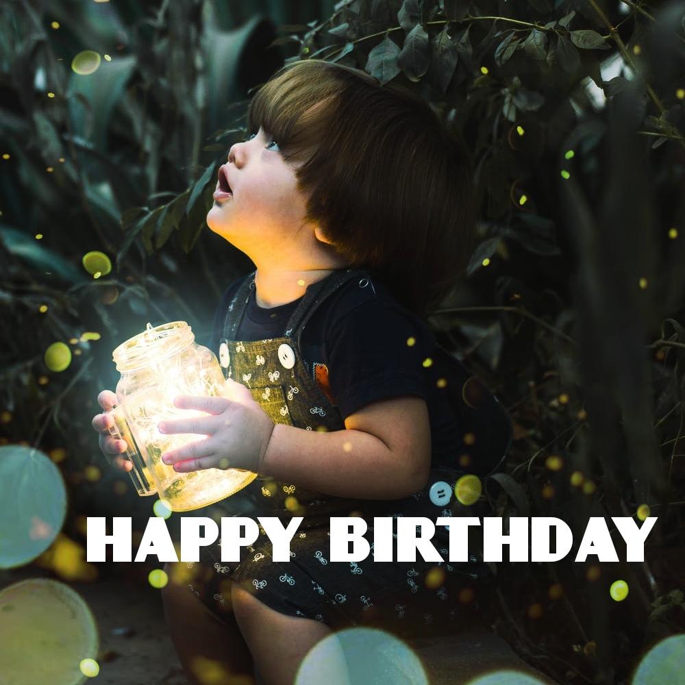 Birthday status photo