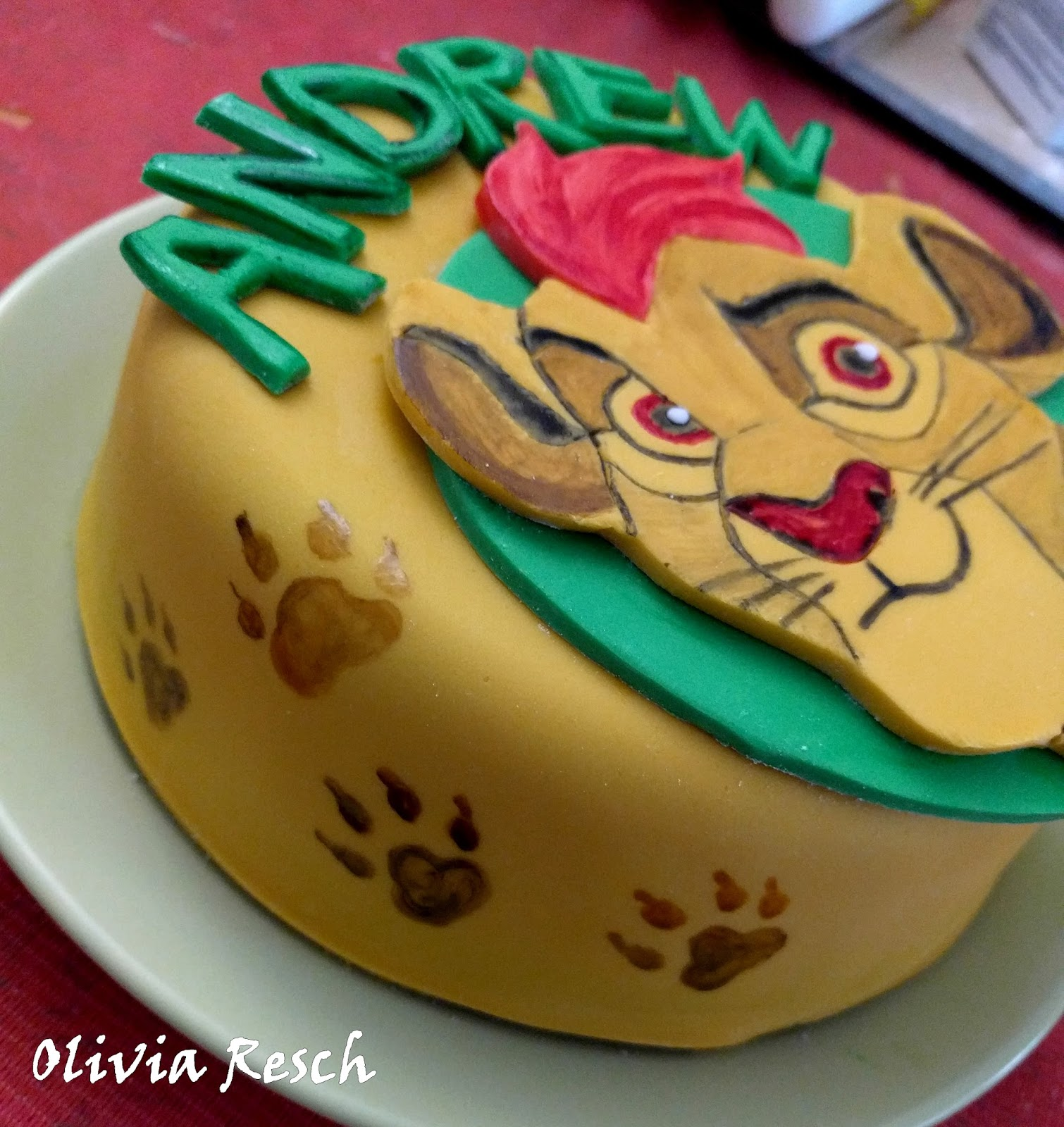Gateau La Garde Du Roi Lion Creations Cake Design Par Olivia Resch