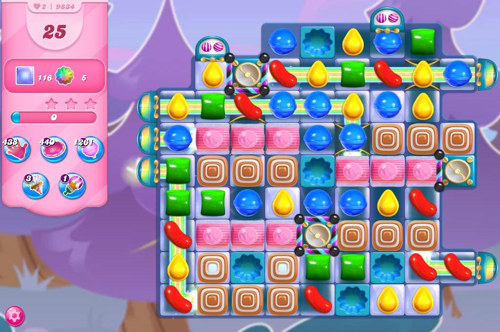 Candy Crush Saga level 9834