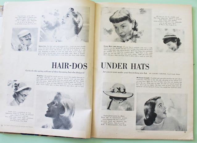 1950s hairstyles to wear with vintage hats