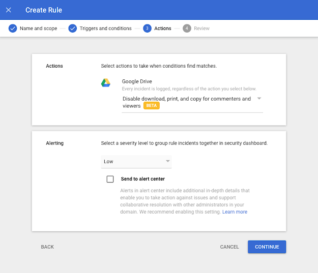 New beta adds IRM controls for DLP to help protect sensitive documents in Google Workspace 1