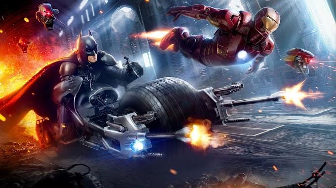 Papel de Parede Homem de Ferro e Batman