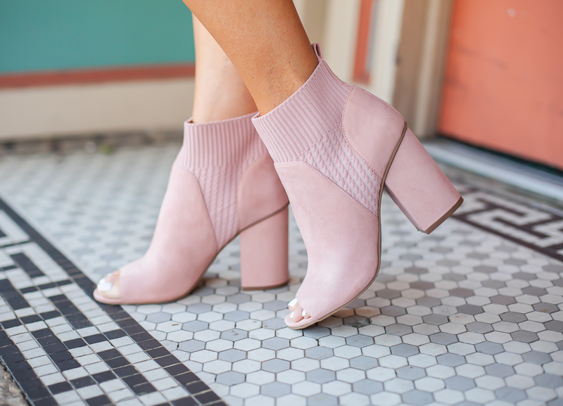 nordstrom bp blush peep toe booties