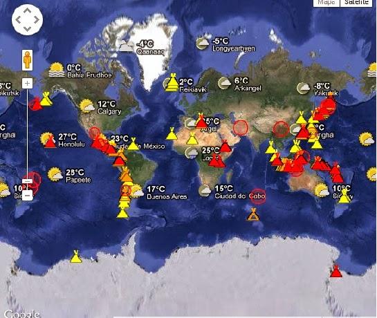 Volcanes en actividad ahora