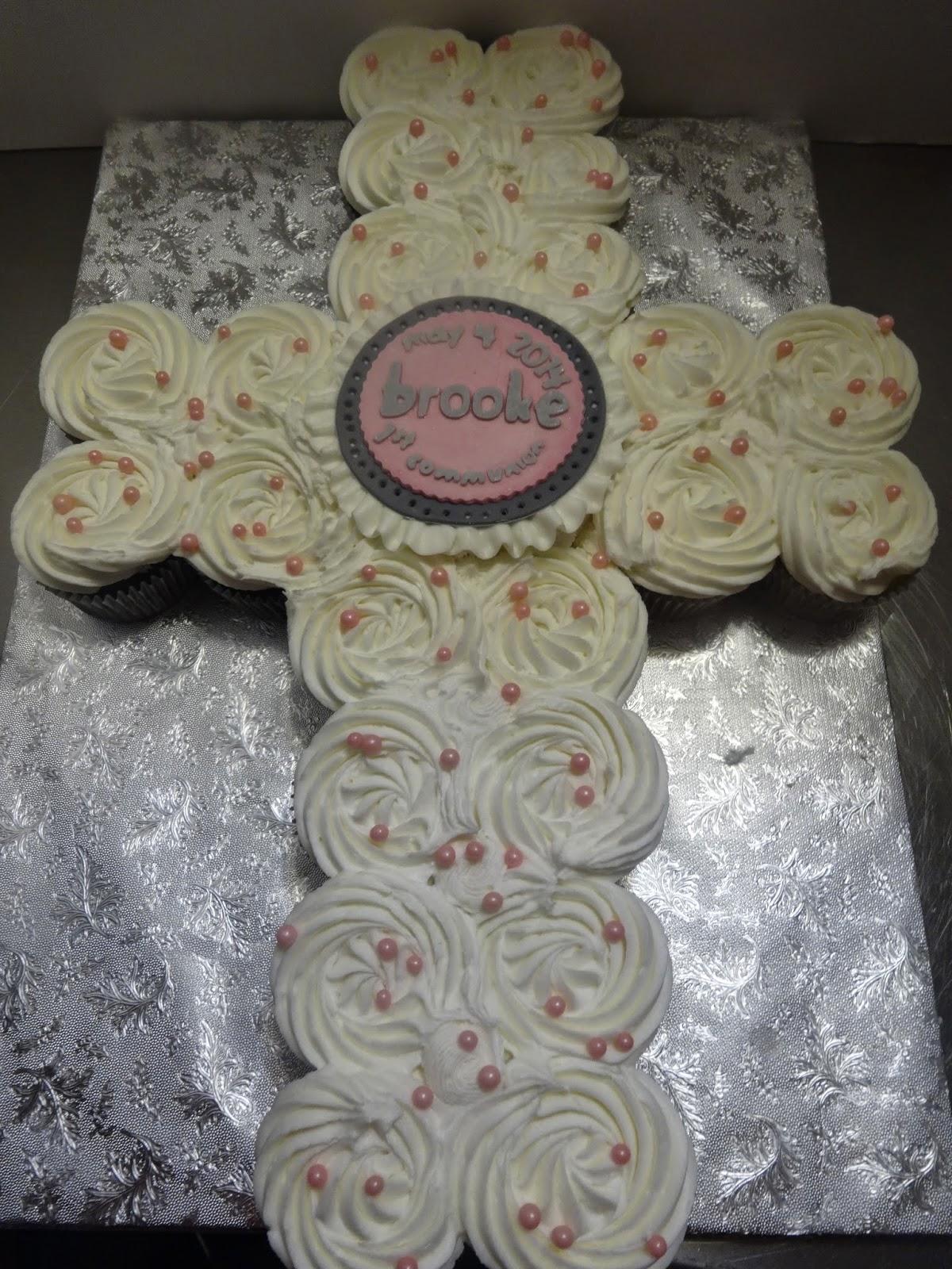 Cakes By Paula 1st Communion Cupcake Cross Cake