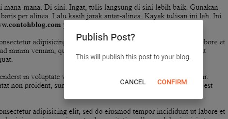 konfirmasi publish post