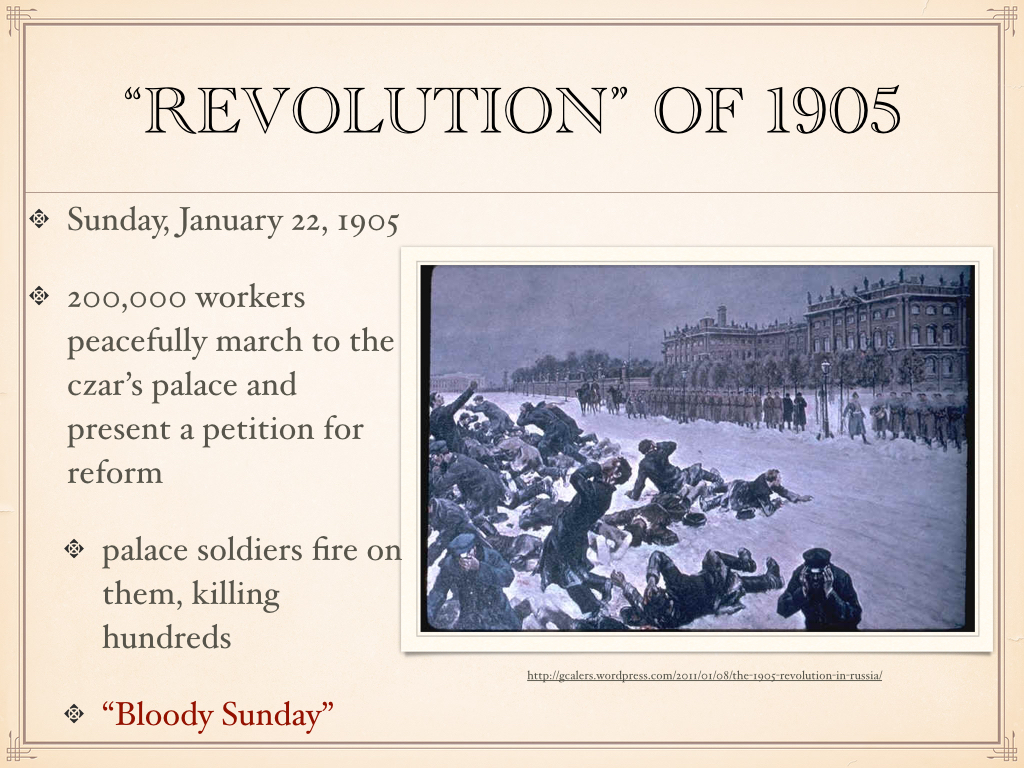a research of the russian revolution in 1905 Russian revolution 1905 essays: over 180,000 russian revolution 1905 essays, russian revolution 1905 term papers, russian revolution 1905 research paper, book reports 184 990 essays, term and research papers available for unlimited access.