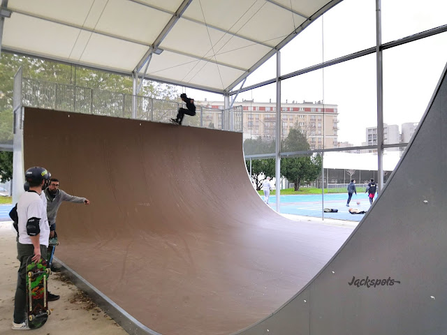 Big rampe skatepark paris