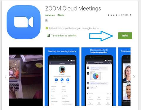install aplikasi zoom melalui playstore