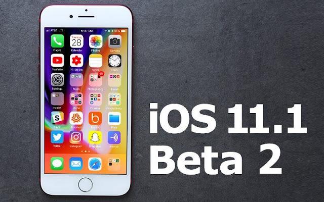 iOS 11.1 beta 2 اي او اس ١١.١ بيتا ٢