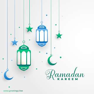 Ramadan Mubarak Wishes in English ramadan hanging lanterns stars crescent moon