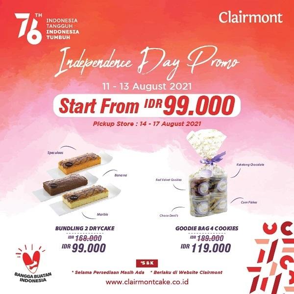 Clairmont Cake Promo Paket Merdeka harga mulai Rp. 99.000*