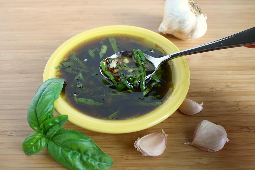 The Garden Grazer GarlicBasil Balsamic Vinaigrette