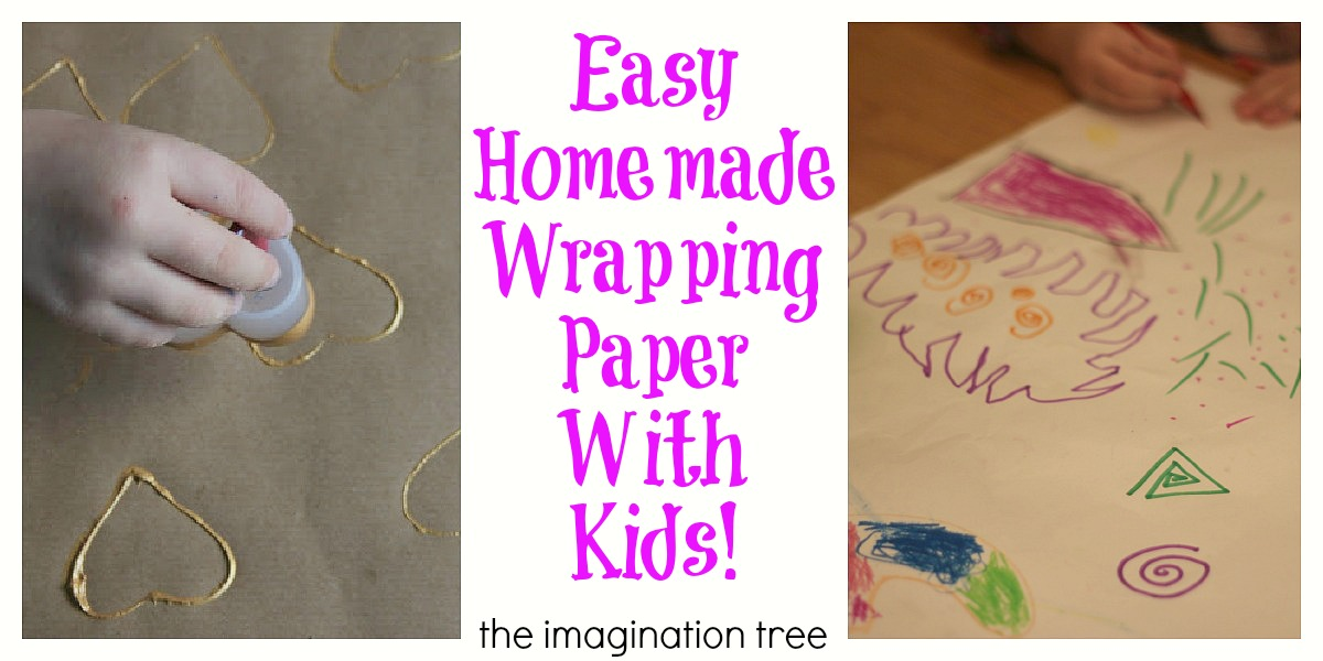 Easy Homemade Wrapping Paper With Kids The Imagination