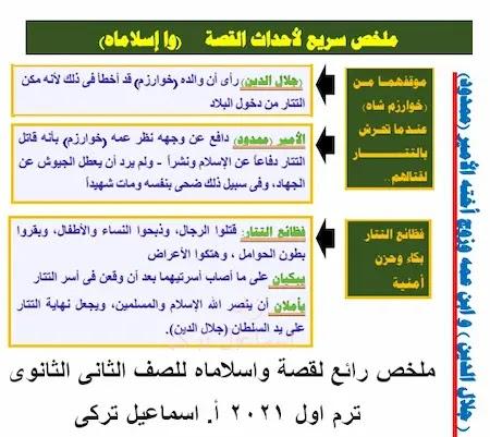 قصة واسلاماه تانية ثانوى ترم اول2021