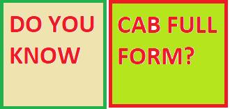 Do You Know CAB Full Form?