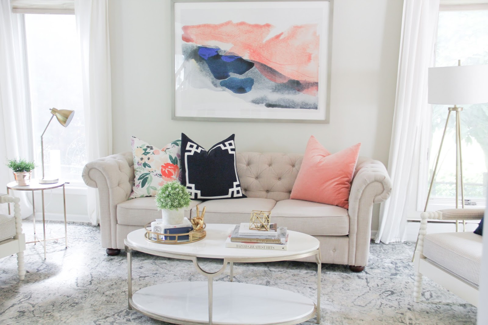 A Light And Airy Living Room Reveal Kiss Me Darling