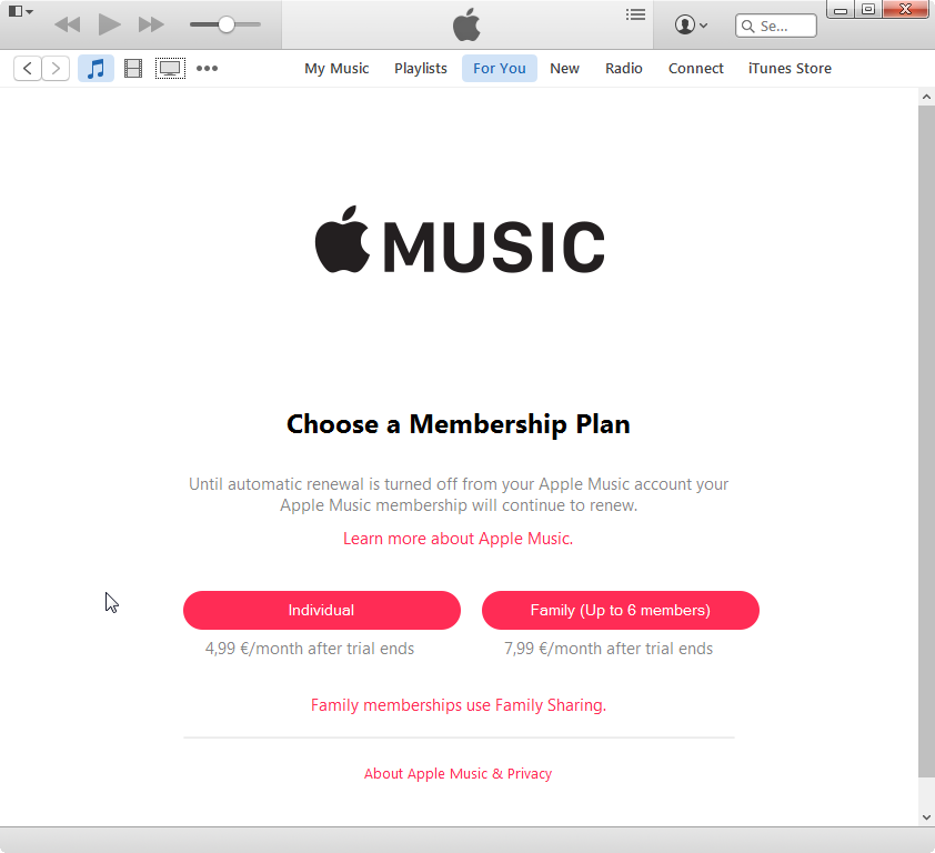 Apple Music Romania pricing