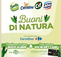 """Concorso """"Buoni di natura"""" : con Svelto, Coccolino, Lysoform e Cif vinci Gift Card Carrefour da 50 euro"""