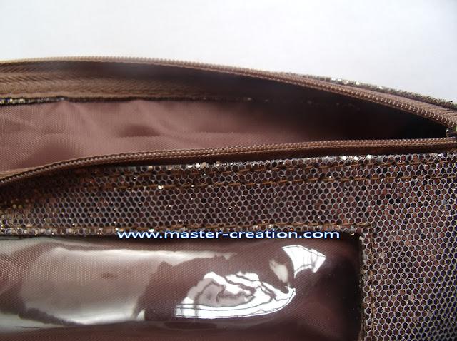 bronze sequin purse