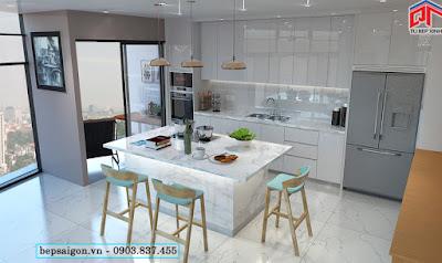 tu bep, nội thất tủ bếp, tủ bếp acrylic hiện đại