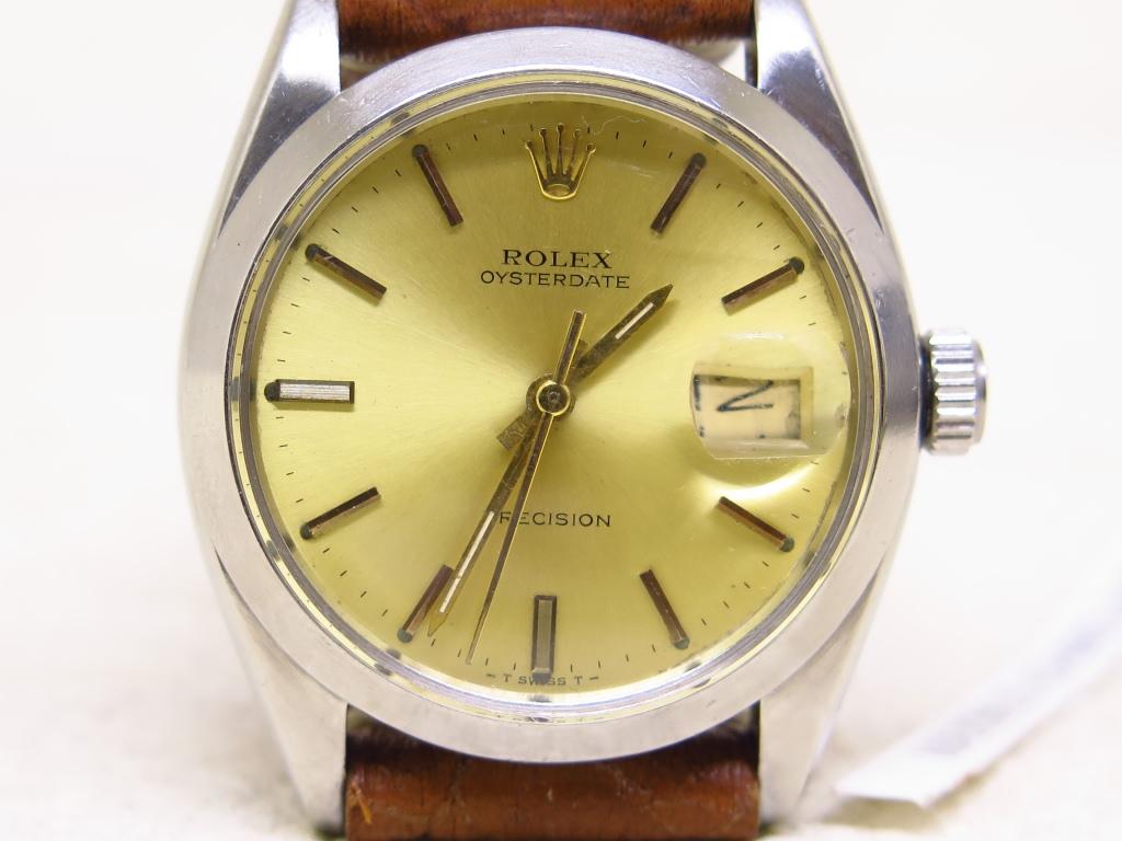 ROLEX OYSTER DATE PRECISION GOLD DIAL - ROLEX 6694