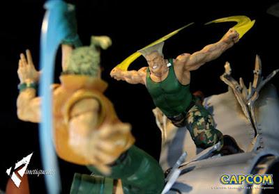 "Figuras: Figura diorama de Guile Vs Charlie Nash War Heroes del Street Fighter II"" - kinnetiquettes"