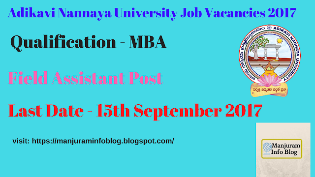 Adikavi Nannaya University Recruitment 2017