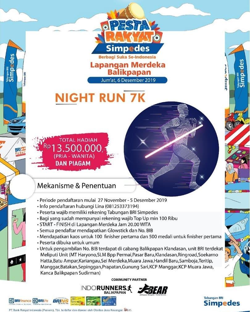 Pesta Rakyat Simpedes : Simpedes Night Run - Balikpapan • 2019