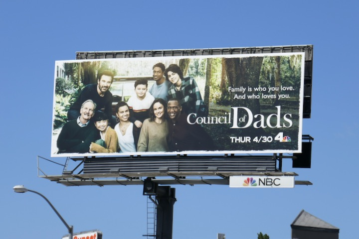 Council of Dads series launch billboard